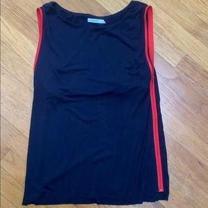 Bailey 44 Sleeveless Blue with red zipper Top S
